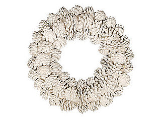 DIY: White Pinecone Wreath