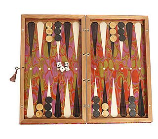 Crave Worthy: Psychedelic Circles Backgammon Set