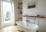 Although I might miss my showers, I'd give anything to soak in this stunning clawfoot tub every day.