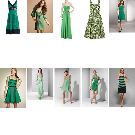 Top 10 Favorite Green Dresses