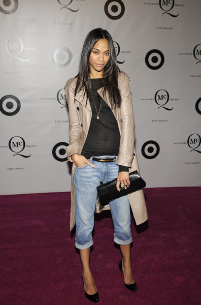 Zoe Saldana looking cool as ever