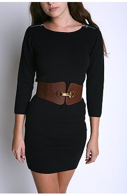Corset With Buckle Belt