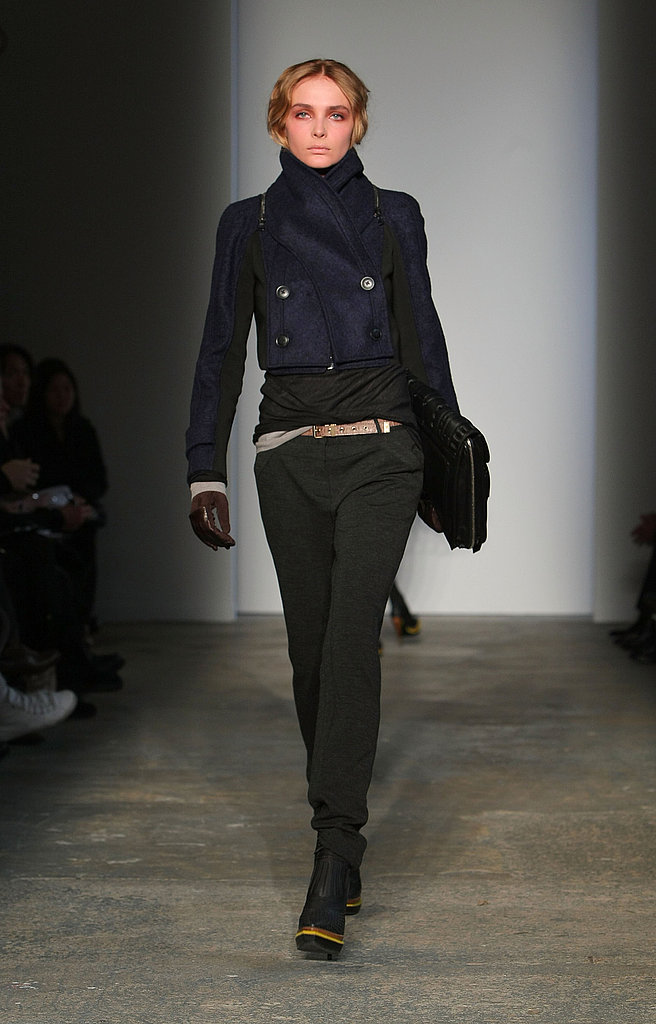 Proenza's Cropped Navy Peacoat, Tough Gloves, and Sporty Boots