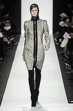 Narciso Rodriguez's Hooded and Zipped Metallic Coat