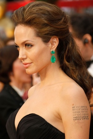 Get Angelina Jolie's Emerald Lorraine Schwartz Oscars Earrings For Cheap