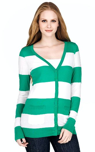 Alternative Apparel Striped Cardigan ($54)