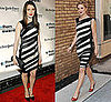 Photo of Drew Barrymore and Rachel Weisz Wearing Striped Dress by Narciso Rodriguez