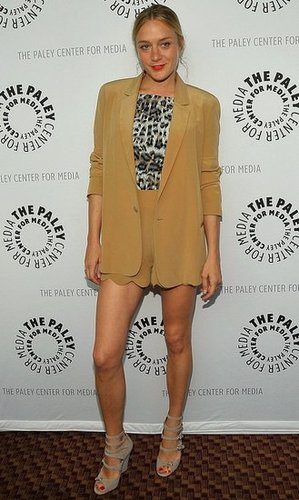 Big Love Actress Chloe Sevigny Attends PaleyFest09 in Camel Chloe Shorts and Blazer
