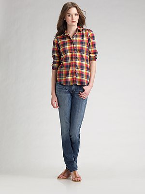 Steven Alan Reverse Plaid Shirt