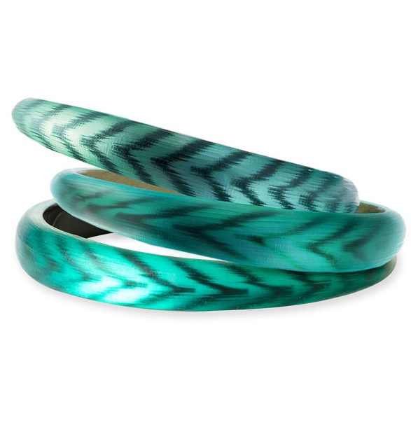 Alexis Bittar Two Tone Tapered Bangle Bracelet