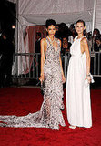 Chanel Iman and Flavia de Oliveira