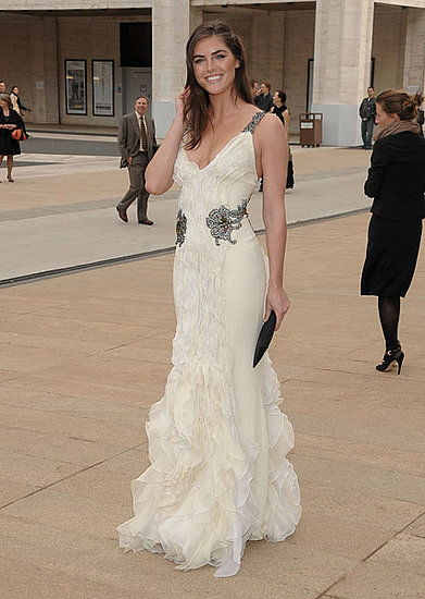 Hilary Rhoda in Carolina Herrera