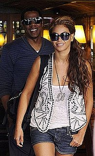 Beyonce Knowles in a Studded Balmain Vest With Jay-Z in Spain