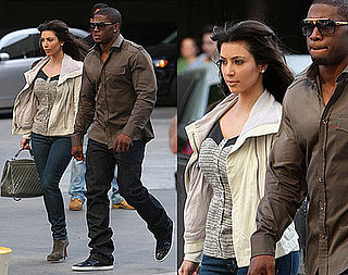 Kim Kardashian Goes to LA Lakers Game Wearing Vena Cava Sweetheart Tank and White Leather Jacket
