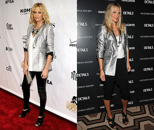 Charlize Theron and Molly Sims Both Wear Rag & Bone's Shiny Silver Blazer