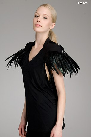 Diesel Black Gold Tiume Feathered Shrug: Love It or Hate It?