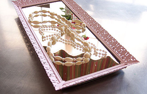 Etsy Find: Pink Mirrored Jewelry Tray