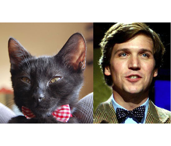 Mr. Cornelius Bouvier and Tucker Carlson