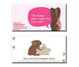 Naughty Bunny Chocolate Bars
