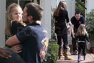 Photos of Christian Bale in LA with Wife Sibi and Daughter Emmeline