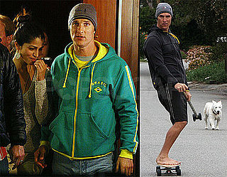 Photos of Matthew McConaughey and Camila Alves at Slumdog Millionaire, Skateboarding, Releasing Record Label