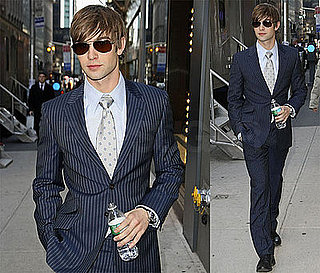 Photos of Chace Crawford Filming Gossip Girl