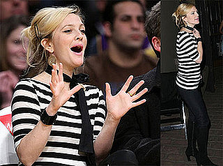 Photos of Drew Barrymore at Lakers Game and Bardot Bar in LA