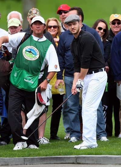 Justin Plays in The Pro-AM