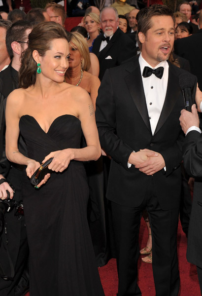 Angie and Brad at teh Oscars