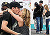Photos of Jennifer Aniston and John Mayer Kissing at Bahamas Airport After Valentine's Day