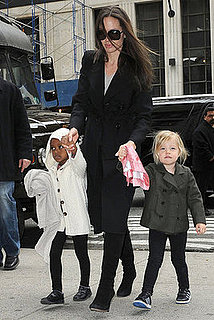 Photos of Angelina Jolie with Shiloh and Zahara in NYC