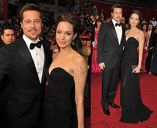 Photos of Angelina Jolie and Brad Pitt at the 2009 Oscars