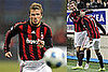 David Beckham Playing Soccer in Milan