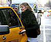 Photo of Cameron Diaz Getting in a Taxi
