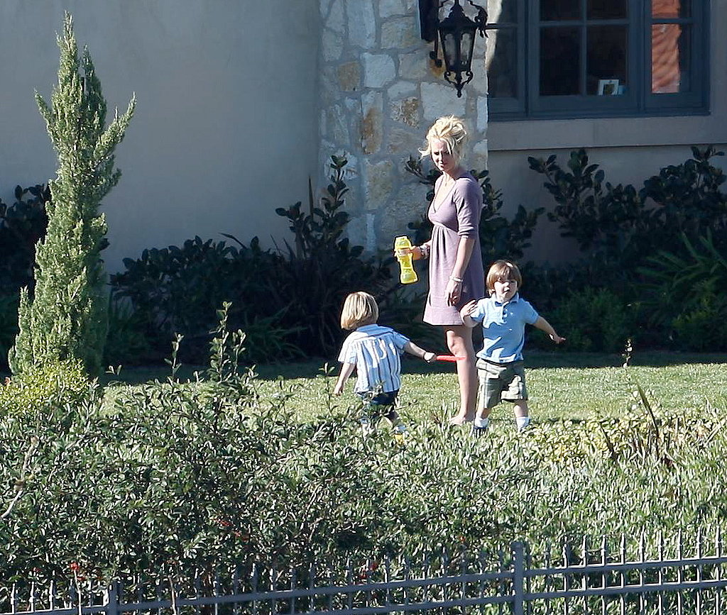 Britney With Her Boys