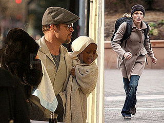 Photos of Angelina Jolie and Liev Schreiber Filming Salt in Washington DC