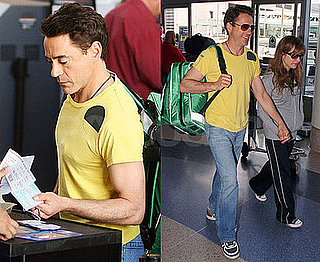 Photos of Robert Downey Jr at LAX