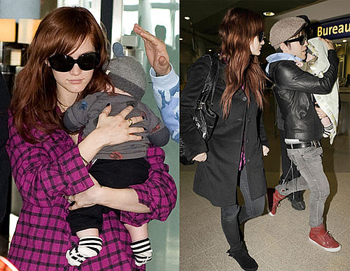 Photos of Ashlee Simpson and Pete Wentz With Bronx in Manchester Airport