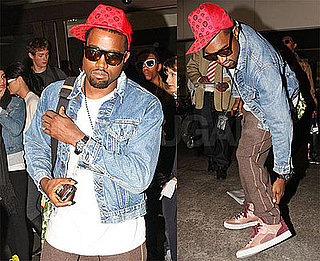Photos of Kanye West at LAX