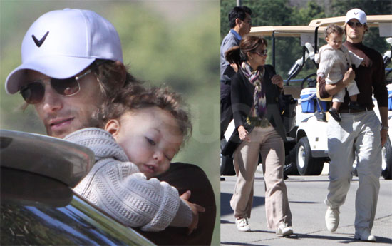 Halle Berry with Gabriel and Nahla Aubry