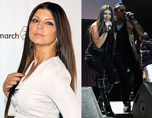 Dark Haired Fergie Hits the Stage With Black Eyed Peas!