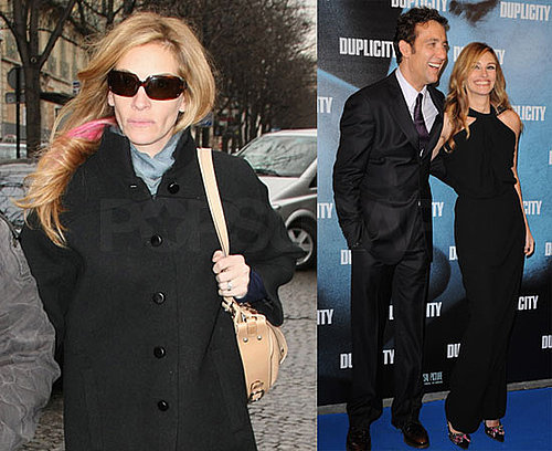 Photos Julia Roberts and Clive Owen in Paris