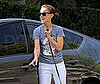 Photo of Natalie Portman Walking Her Dog in LA