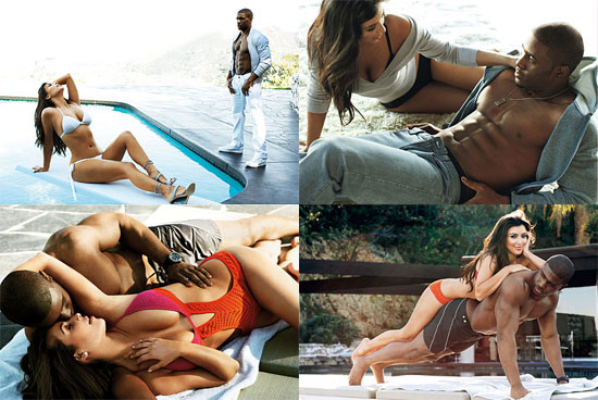 Kim Kardashian and Reggie Bush For GQ