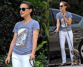 Photos of Natalie Portman and Her Dog in LA