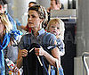 Photo of Keri Russell and Son River Deary at LAX