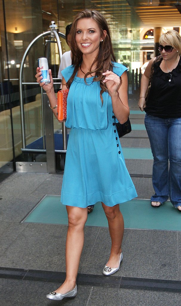 Audrina Lands in Australia
