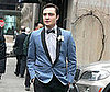 Photo of Ed Westwick Filming Gossip Girl