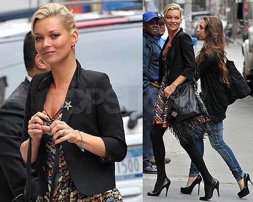 Photos of Kate Moss in NYC Ahead of the Topshop Opening
