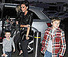 Photo of Victoria Beckham With Her Sons Brooklyn, Romeo, and Cruz Heading to See David&#039;s Game